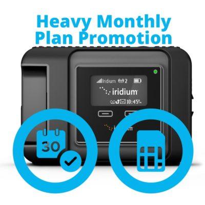 Iridium GO Heavy Monthly Plan Promotion