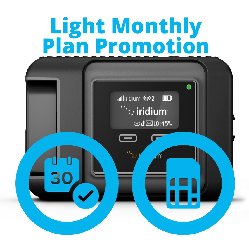 Iridium GO Light Monthly Plan Promotion