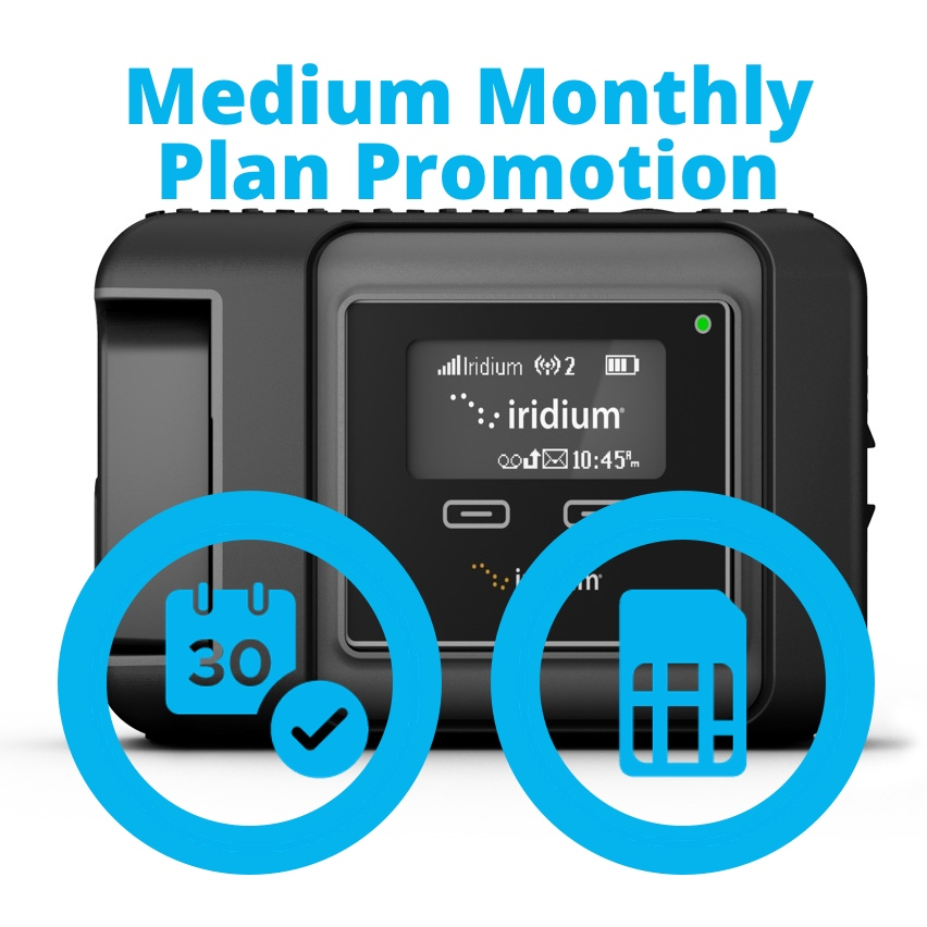 Iridium GO Medium Monthly Plan Promotion